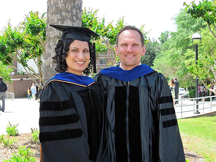 Dr. David Janicke with doctoral mentee Dr. Wendy Gray at her 2010 graduation.