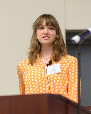 Eliza Warren, top graduate student research abstract