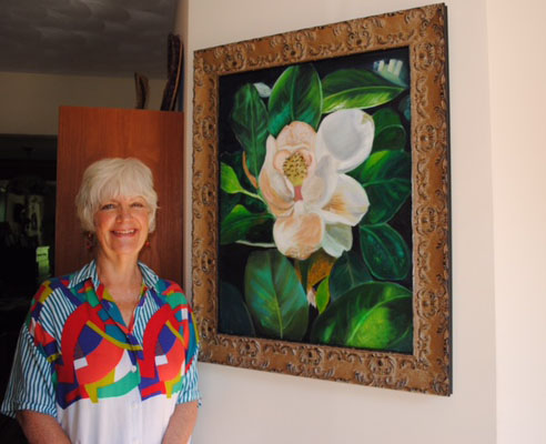 This painting by Edwards appeared on the cover of the Open Journal of Occupational Therapy.