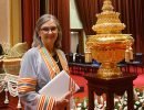 Dr. Linda Cottler at the honorary doctoral degree ceremony at Chulalongkorn University.