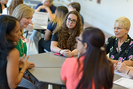 OT students meet with UF faculty and local practitioners to discuss career opportunities.