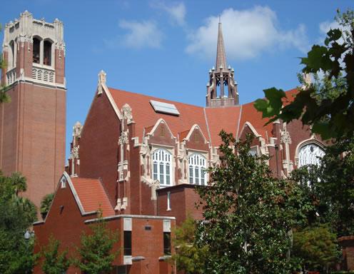 East view of UF University Auditorium