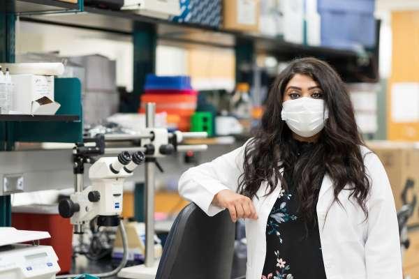 Sabhya Rana in lab