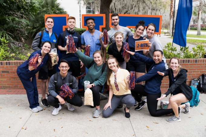 group of UF students