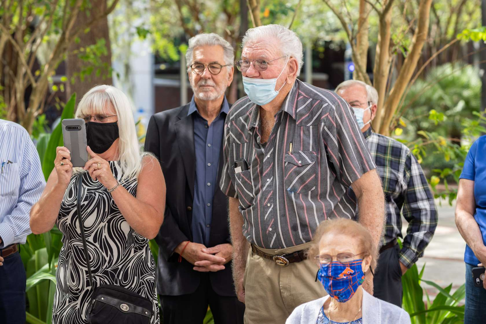 people attend Linda Stallings ceremony